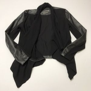 BLANKNYC Faux Leather Knit Leather Moto Jacket S